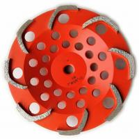 China 8 segments L shape Top quality Diamond Grinding Cup Wheel for Griinding Concrete factory