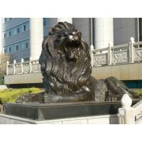 China Large Outdoor sitting lions bronze sculpture ,customized bronze statues, China sculpture supplier factory