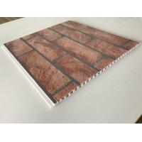 China Brick Decorative Plastic Wall Panels Hot Stamping X Hollow Core Structure factory