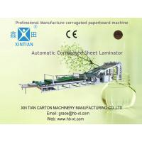 High Precision Carton Folding Machine of Automatic Flute Laminator For Paper Packing Box