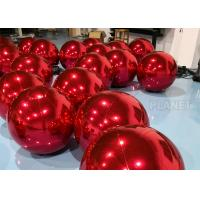 China Red PVC Inflatable Mirror Ball With D Rings For Shopping Mall High Tear Strength factory
