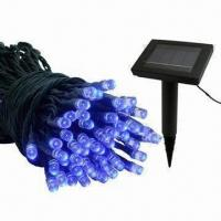 Buy cheap Christmas Solar String Lights with 30lm Luminous Flux, Suitable for Outdoor Use from Wholesalers
