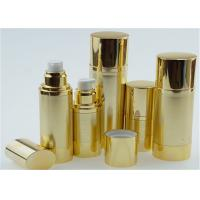 China 10ml 15ml 20ml Shinny Gold Airless Pump Bottles For Personal Skin Care Cream factory