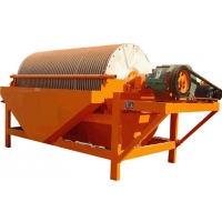 China 12-100 T/H Ore Dressing Equipment Cylinder Magnetic Drum Separator factory