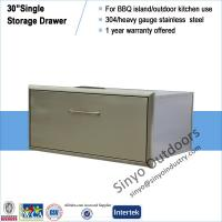 "Buy cheap Built-in stainless BBQ island 30"" storage single drawer from wholesalers"