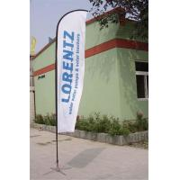 Buy cheap Double / Single Side Printing Outdoor Advertising Sail Banners 100% 110g from wholesalers