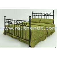 Classic Metal Slat Metal Full Size Bed , Iron Pipe Double Metal Bar Beds