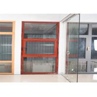 China Hidden Hinge Aluminium Glass Window Site Red Inside And Outside Windows factory