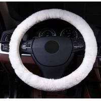Quality Steeringwheel faux fur Steering Wheel Cover Genuine Leather Cover NEW for sale