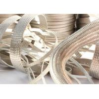 Buy cheap Strong Metal Tinned Copper Braided Sleeving Clear Cut For Cable Shielding from Wholesalers