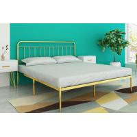Buy cheap Metal Platform Bed Frame /Bed, modern style iron bed with Headboard from Wholesalers