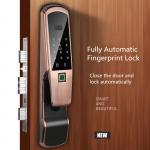 Buy cheap Aluminum Alloy Fingerprint Door Lock , Electric Glass Doors With LCD Screen from Wholesalers