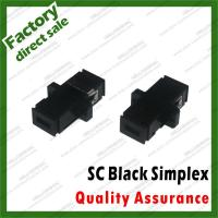 China black simplex sc adapter abs plastic fiber Optic coupler for fiber optical patch cords hybrid sc fc st lc all types on sale