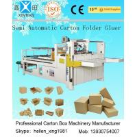 Buy cheap Siemens Electric Carton Making Machine of Semi-Auto Folder Gluer 4KW 5300mm from wholesalers