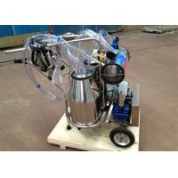 China Vacuum Pump Type Dairy Plant Machinery for Cows and Goats, two buckets mobile milker on sale
