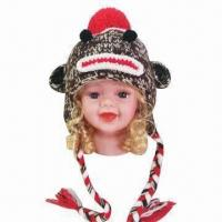 China Hand Crochet Knitted Hat/Animal Hat/Monkey Hat for Children, OEM Orders are Welcome factory