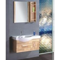 Buy cheap Single ceramic sink thin bathroom vanity , contemporary bathroom vanity cabinets colors available from Wholesalers