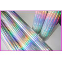 Over printable flexo holographic cold foil for paper