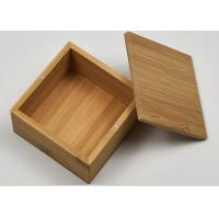 Buy cheap Small Natural Storage Bamboo Gift Box With Custom Logo For Packaging from Wholesalers