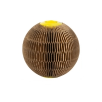 China 100% Recycled Dog Interactive Toys Corrugated Paper Catnip Refillable Cat Scratcher Ball factory