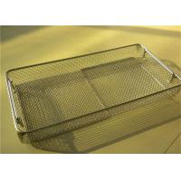 Buy cheap Extra Large Stainless Steel Square Wire Metal Storage Baskets Perforated For Medical Treatment from Wholesalers