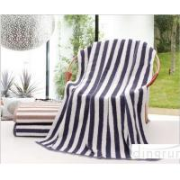Buy cheap Plain Colored Zebra Striped Bath Towels Skin Care Machine Washable 70*140cm from Wholesalers
