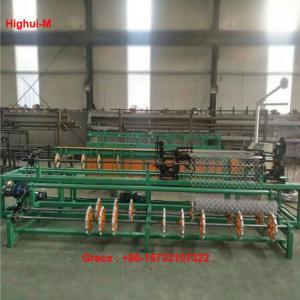 China 2m Width Full Automatic Double Wire Feeding Diamond mesh fence Making Machine factory