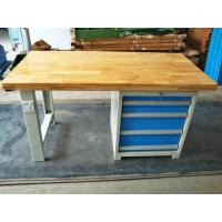 Buy cheap Tool Workshop Stainless Steel Work Bench With Butcher Block Hardwood Bench Top from Wholesalers