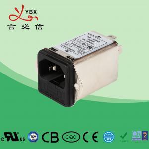 China Yanbixin 2A 50Hz 60Hz Inline EMI Filter , 120V 250VAC DC Power Line EMI Filter factory