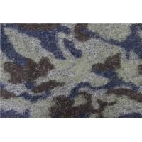 China High Grade Eco Friendly Felted Wool Fabric With Disruptive Pattern factory