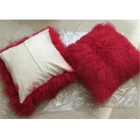 Buy cheap Tibetan Lambskin Cushions Tibet sheepskin curly fur cushion mongolian fur pillow from Wholesalers