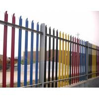 China Euro Style Free Standing Wrought Iron Fence Panels , Metal Palisade Fencing on sale