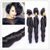 China Peruvian Bouncy Fummi Curly 100% Human Hair Remy Hair Extensions factory