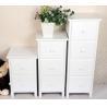 White Wooden Drawer Bedroom Corner Cabinet Living Room Furniture