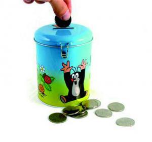 China round coin bank tin box factory
