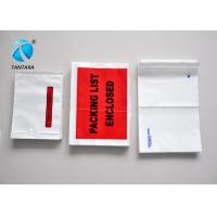 Recyclable Mailing packing list enclosed pouches tear resistance