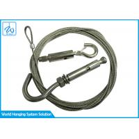 China Aircraft Wire Rope End Looping Wire Suspension Hanging Kit With Hook Cable Gripper factory
