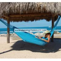 Buy cheap Handwoven Hand Woven Mayan Hammock Double Size , All Weather Light Blue Beach Hammock from Wholesalers