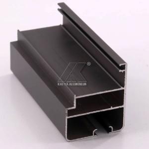 China OEM Extruded Aluminum Profiles , Window Aluminum Profile Black Powder Coating factory