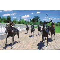 Buy cheap High quality miniatary lexington painted bronze horse statues from wholesalers