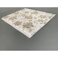 Buy cheap Kitchen Two Golden Line Ceiling PVC Panels Wooden Color 5mm Thickness from Wholesalers