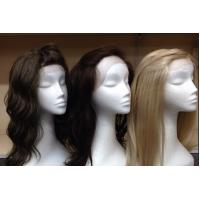 Buy cheap Smooth Virgin Deep Curly Hair / 100 Human Hair Lace Front Wigs With Baby Hair from Wholesalers
