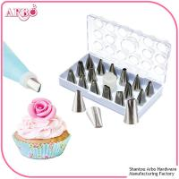 Buy cheap FDA LFGB certificated 16pcs cake decorating tools cake nozzle icing piping nozzles set from Wholesalers