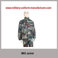 Buy cheap Military Waterproof Woodland Camouflage M65 Combat Jacket For Army from Wholesalers