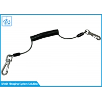 China Stainless Steel Wire Lost Hand Rope / Fishing Coiled Lanyard factory
