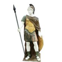 China Classic greek stone man statue ,male marble sculpture with shield,China stone carving Sculpture supplier factory