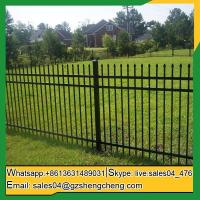 China Cosmo Newbery easily assemble used wrought iron fence panels for garden on sale