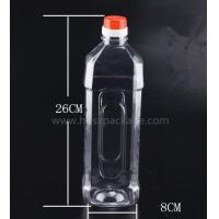 China PET 1000ml empty mineral water bottles with screw caps for drinking supply samples factory