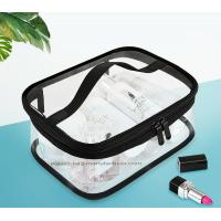 Buy cheap Double Pullers Portable Clear PVC Makeup Bag Zippered Waterproof Cosmetic Bag Travel Storage from Wholesalers