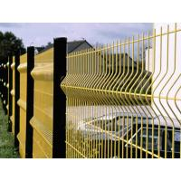 Powder Coated / Galvanized Wire Mesh Fence Panels 3D Curved Easily Assembled